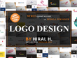 Design Professional LOGO with Unlimited Revisions + Source File!