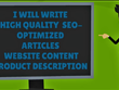 Perfectly write Articles and  Website-content
