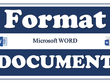 Design and format your Microsoft Word Document and PDF