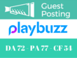 Write And Publish A Guest Post On Playbuzz Playbuzz.com DA 72