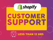 Provide top notch customer service in your shopify store in 2hrs