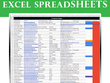 Create a 500 entry Excel spreadsheet for you in 48 hours