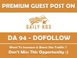 Publish Guest Post on  Dailykos. Dailykos.com - DA94, Dofollow