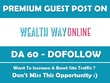 Publish a Guest Post on Wealthwayonline.com - DA 60