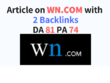 Write and submit guest post on WN.com with 2 backlinks