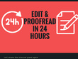 Edit 1500 words of your article within 24 hours