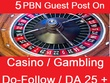 Write and Publish 5 PBN Guest Post On Casino / Gambling Blog