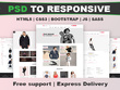 Convert PSD to HTML Responsive Website with bootstrap4