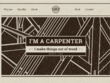 Build a Carpenters Website for a Tradesman