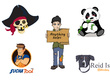 Design Mascot Cartoon Gaming logo with vector files and others