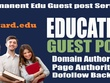 Do-Follow Guest Post on Brevard.edu DA50 Dofollow blog