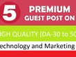 Guest post on 5 TOP quality Technology and Marketing websites