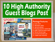 Guest Blogs Post On 10 High Authority Blogs