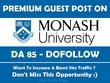 Edu Guest Post on Monash University Australia Monash.edu.au DA85