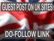 Get you DOFOLLOW Backlinks on UK Top Sites DA 20 - 50
