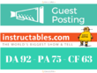 Write And Publish A Guest Post On Instructables.com DA 92 PA 75