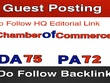 Write & Publish Guest Post on Chamberofcommerce.com - DA 65