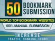 Manually 50 Bookmark Submission Backlinks, High Pa Da Cf Tf