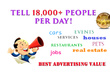 Promote your business or service to over 18,000 persons