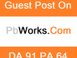 Guest Post in Pbworks. com PR7 DA 82 Dofollow backlink