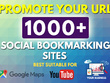 Do 1000 HQ Social Bookmarking for your Website, Youtube