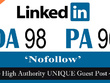 "Write & publish UNIQUE Guest Post on ""Linkedin"" DA-98"