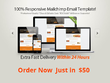 Make your professional HTML email template guaranteed