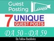 Offer a best Bundle of 7 Guest Post on DA-50+