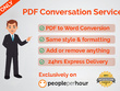 Do any PDF conversation PDF to Word conversation 15 pages