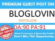 Publish your blog article on bloglovin