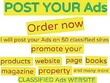 Post your ads on 50 top rated classified websites