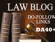 Guest post on law blog high DA40 niche blog