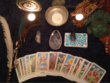 Read Tarot cards. One question