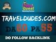 PUBLISH a Travel related Guest Post on TravelDudes.com DA60|PA55