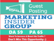Write & Publish a guest post on MarketingInsiderGroup.com - DA59