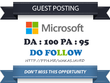 Guest Post on Microsoft - Microsoft.com DA 100 Dofollow Link