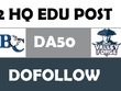 Write and post on 2 HQ Barton and Valleyforge EDU DA50 post