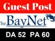 Write & publish guest post on thebaynet. com [Dofollow DA52]