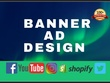 Create Unique And Professional Banner Ad Design and eBook cover