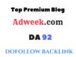 Publish a Guest post on Adweek.com - DA92