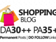 Publish guest post in shopping blog