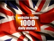 Drive 1000 UK Traffic Daily for 30 Days to boost Google SERP