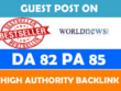 Guest Post On High Authority World News Site DA 82 Limited Offer