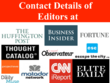 Direct Contact Of Editors At Forbes, HuffingtonPost and more!