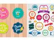Design Packaging Label, Stamp,Badge, Sticker vintage