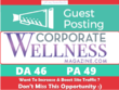 Write & Publish Guest Post on corporatewellnessmagazine.com