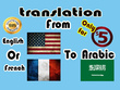 Expertly translate 500 words from english or french to arabic