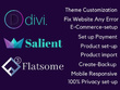 Create website using divi theme, salient theme and flatsome