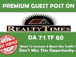 Write & Publish Premium Guest Post At Realtytimes And Thebaynet