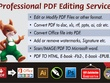 Convert PDF,  Scannded Drawing to Word/Excel/Vector or Jpeg/PNG